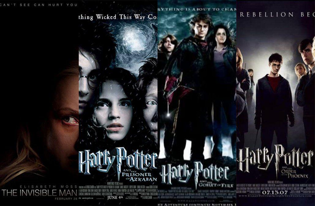 El hombre invisible y tres películas de Harry Potter para ver en el cine
