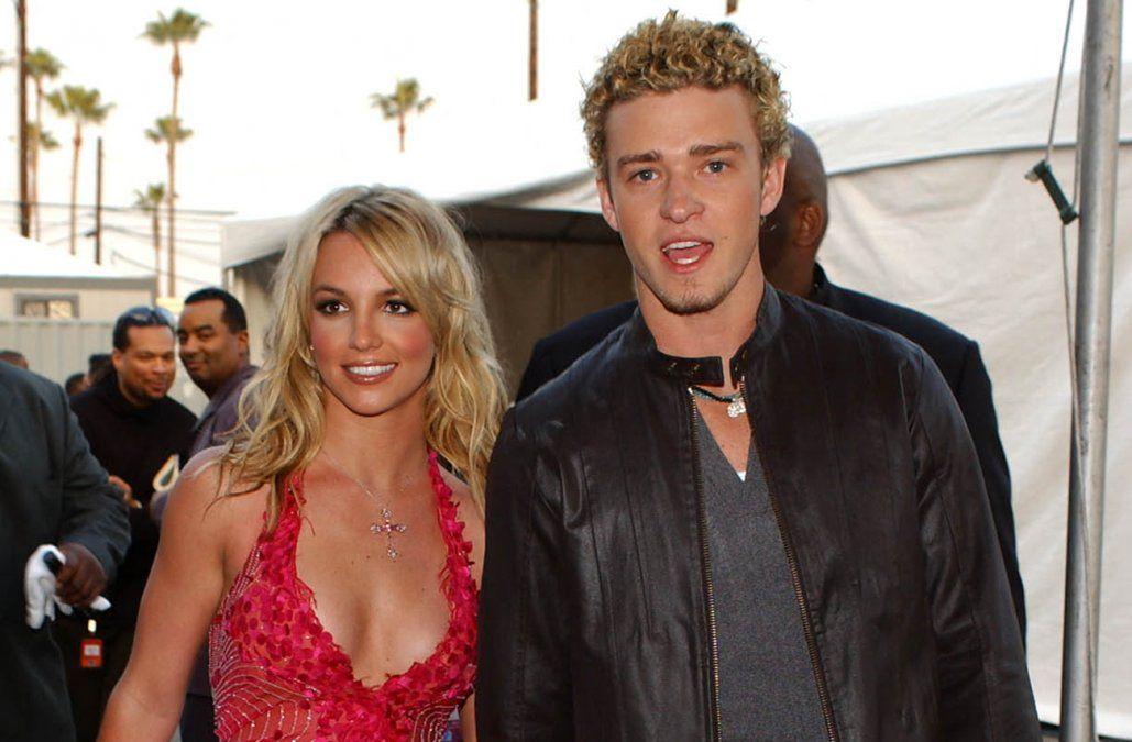 Britney Spears y Justin Timberlake en 2002