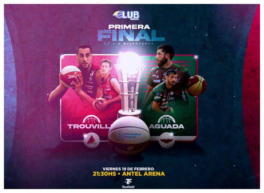 Desde las 21.30 horas, Aguada y Trouville comienzan a disputar las finales de basquetbol