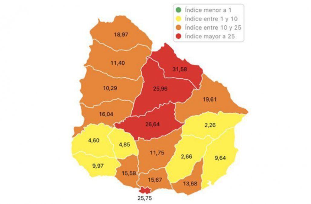 Montevideo y Tacuarembó volvieron a zona de riesgo rojo por contagios de Covid-19