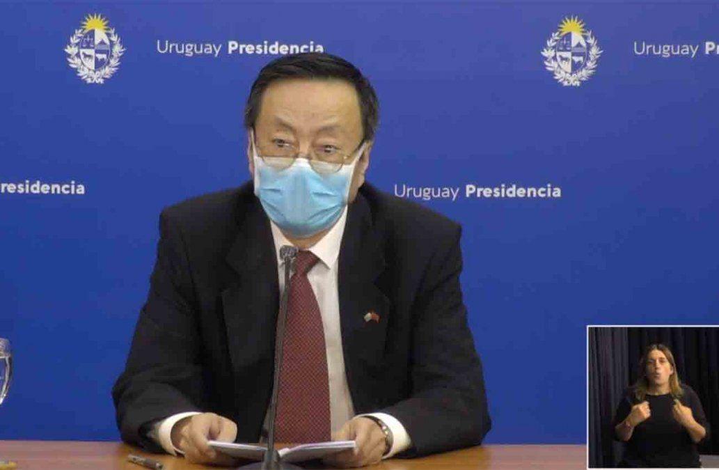 Embajador chino felicitó a Lacalle Pou por su manejo de la crisis sanitaria