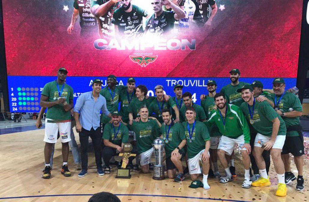 Aguada se consagró bicampeón de la Liga tras derrotar 90-84 a Trouville