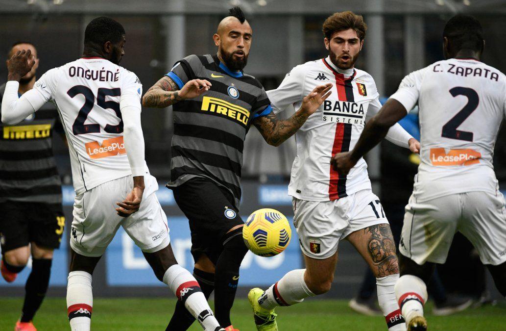 Alexis Sánchez cierra el triunfo 3-0 del líder Inter