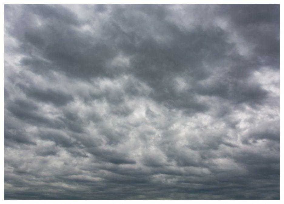 Meteorología pronostica cielo nuboso y probables precipitaciones escasas hacia la noche