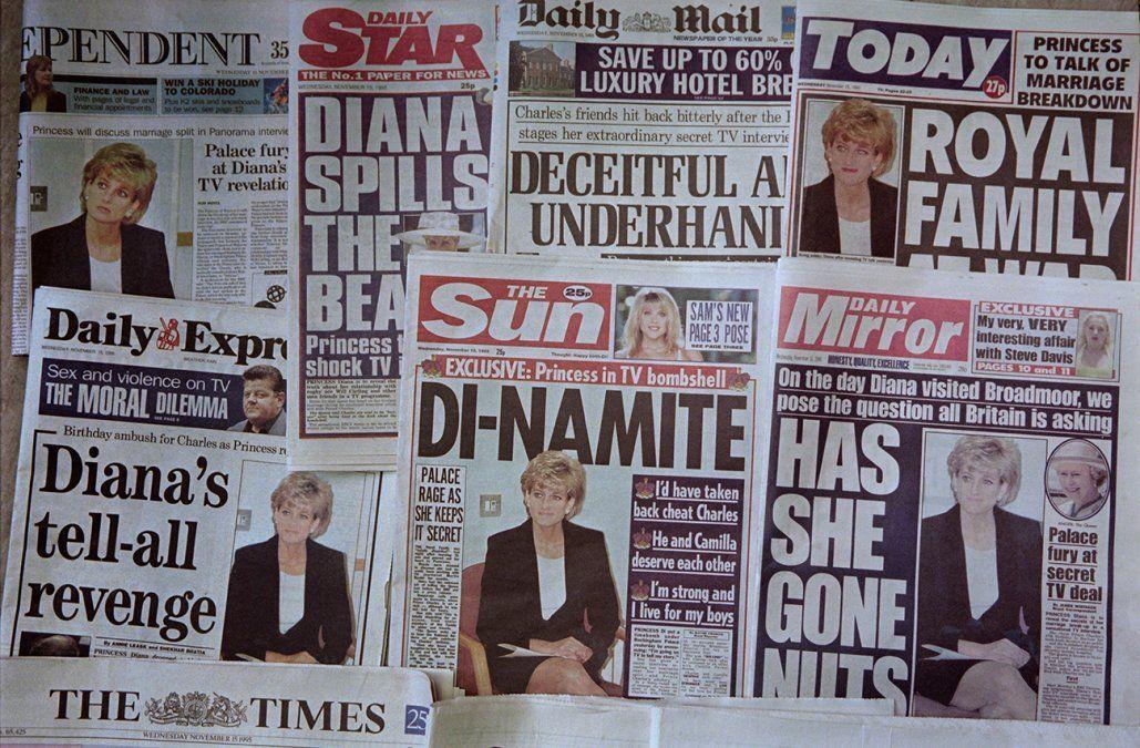 Policía británica descarta investigación sobre entrevista a Lady Di en 1995