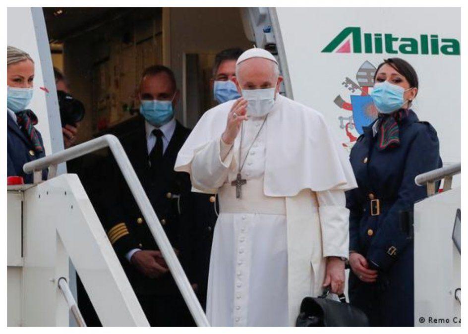 Francisco llegando a Bagdad