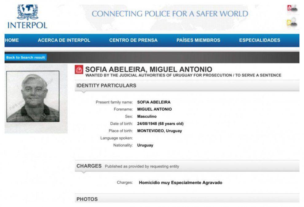 El pedido de captura de Miguel Sofía. En enero de 2019 lo estaban esperando ya que se sabía que circulaba con documentos falsos