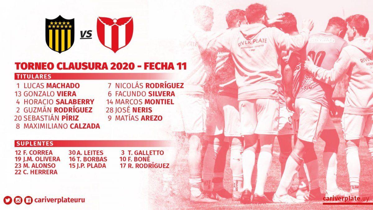 Peñarol venció a River Plate 2-0 y mete presión a los de arriba