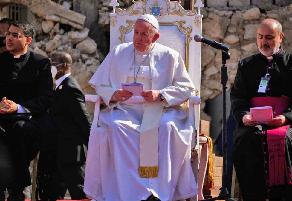 El papa Francisco dijo que trabaja para que los cristianos en Irak vivan en paz