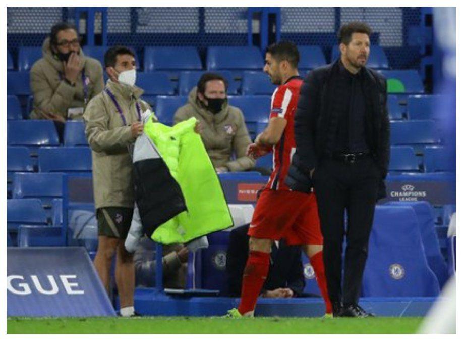 Atlético Madrid cayó ante Chelsea, quedó eliminado de la Champions y Suárez no pudo convertir