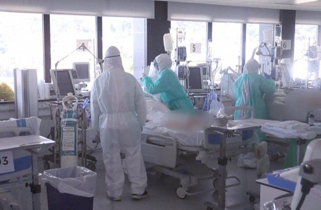 57% de las camas de CTI están ocupadas y 18% son pacientes con Covid-19