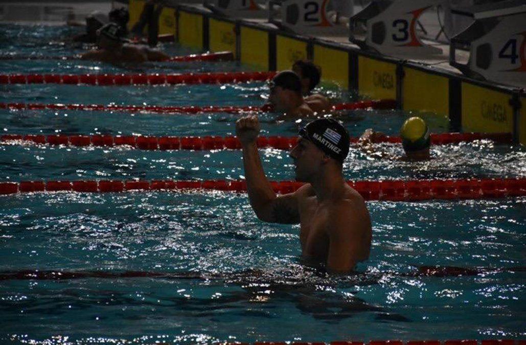 Enzo Martínez fue campeón en Sudamericano de natación y establece nuevo récord nacional