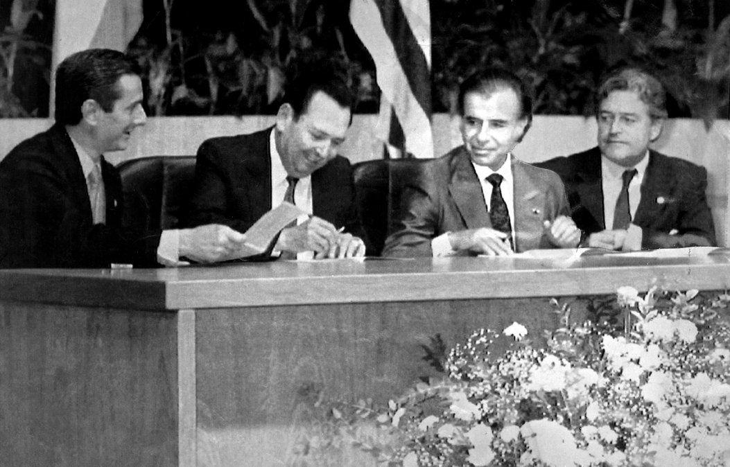 El 25 de marzo de 1991 se reunieron en Brasilia los presidentes Fernando Collor de Mello