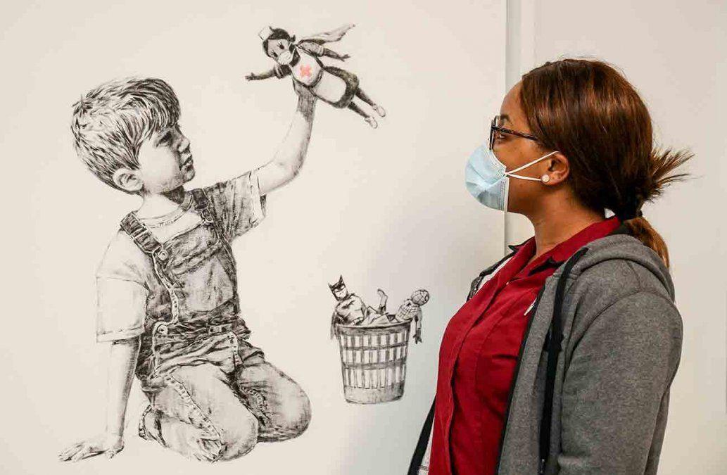Récord para Banksy vendido en beneficio de la sanidad pública británica