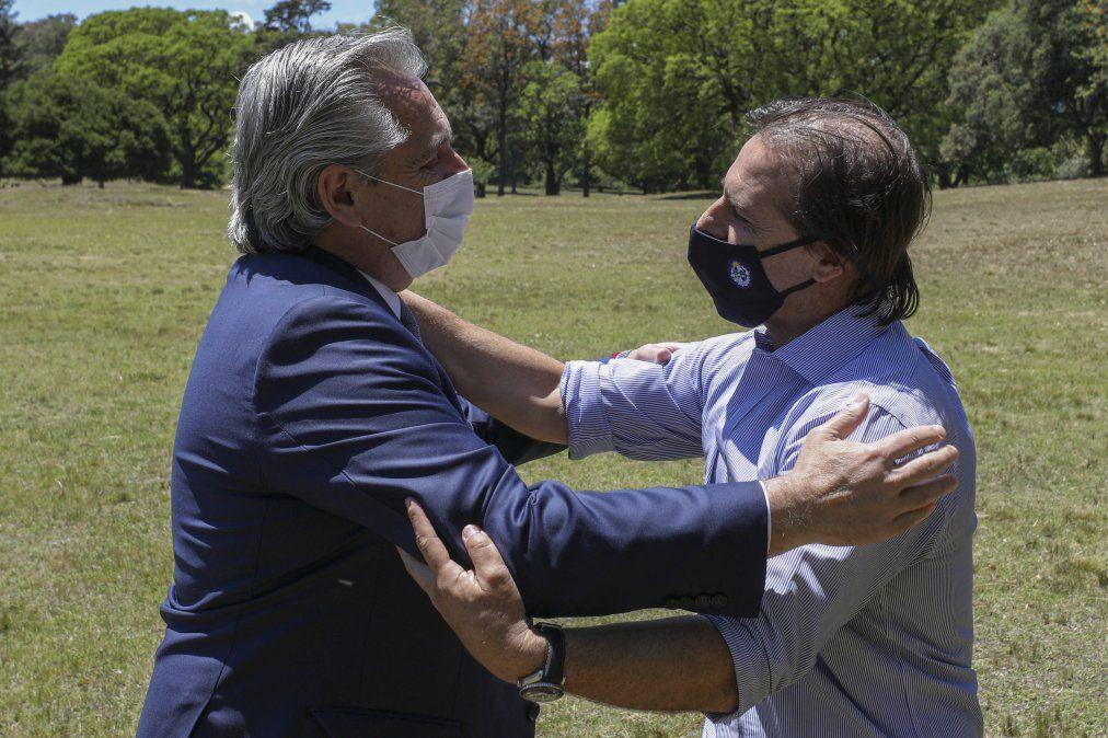 Lacalle Pou y Alberto Fernández en Anchorena