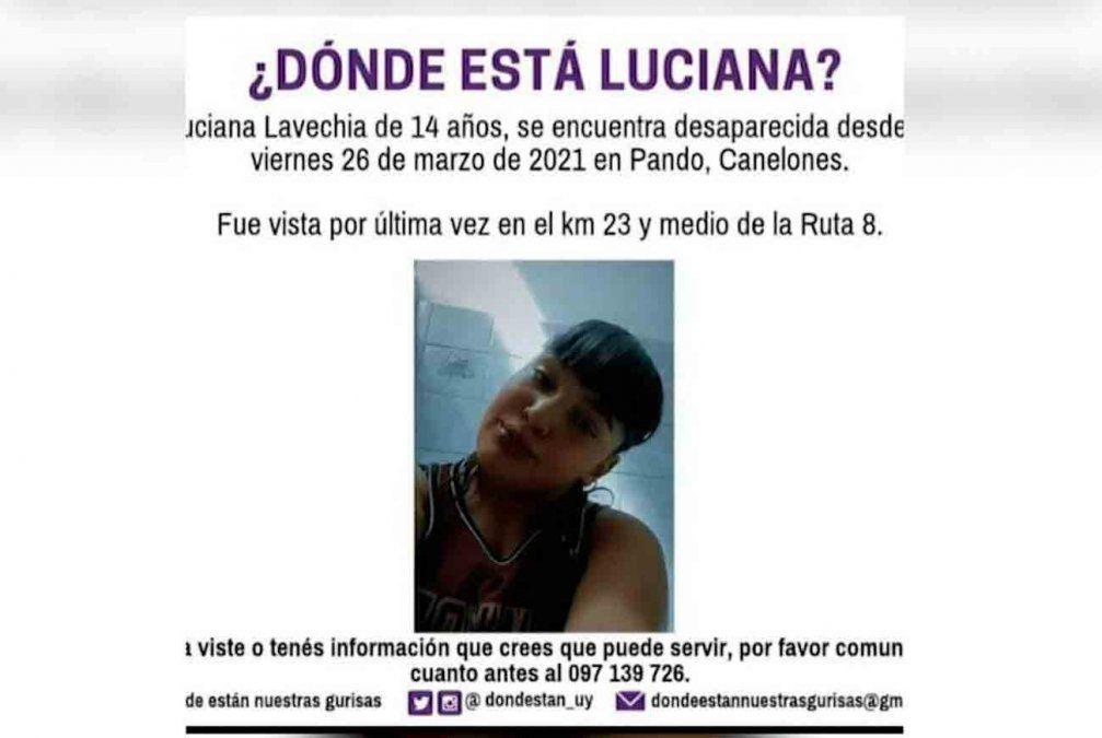 Buscan a una menor de 14 años desaparecida desde el viernes 26 de marzo