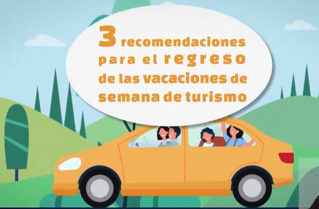 Covid-19: Consejos básicos para quienes vuelvan de las vacaciones de Turismo