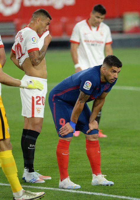 Luis Suárez tiene una lesión muscular y tiembla el Atlético de Madrid