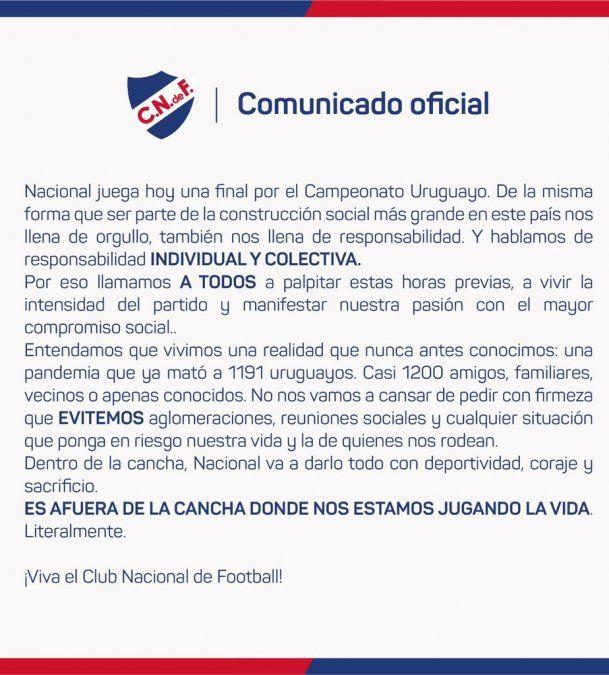 Final del Uruguayo: Nacional visita a Rentistas con la ventaja del 3 a 0