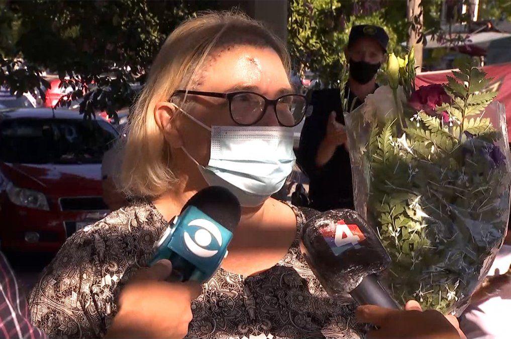 Recibió el alta Sandra Young, la mujer policía baleada en la cabeza en una rapiña