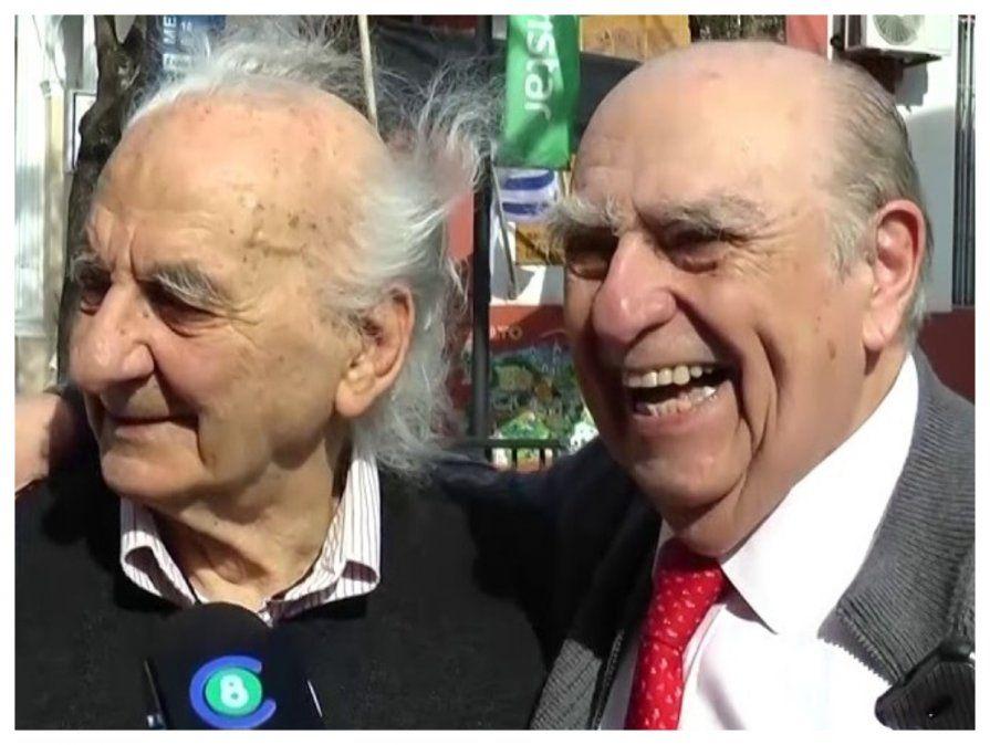 Encuentro de dos amigos; Eduardo Malaquina y Julio Sanguinetti en Salto