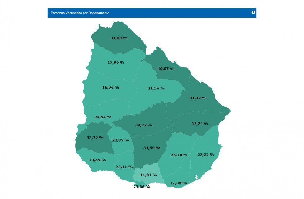 Mapa publicado en Monitor MSP