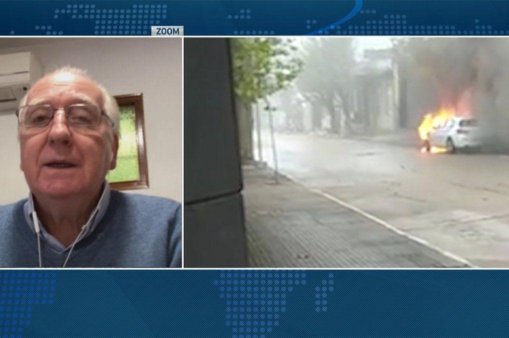 Vecino de Durazno dejó que su auto se incendiara para no perder su lugar en la vacunación