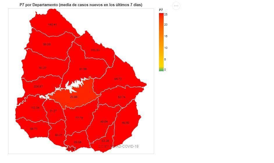 Durazno, el departamento con mayor proporción de vacunados, es el primero en salir de la zona roja