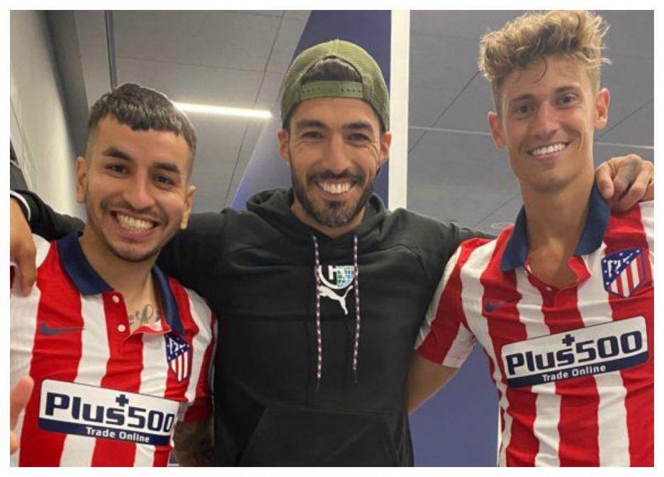 Suárez en redes sociales junto a los dos goleadores de la jornada