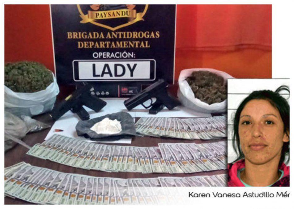 Detienen a líder narco de Paysandú, una mujer de 26 años con antecedentes
