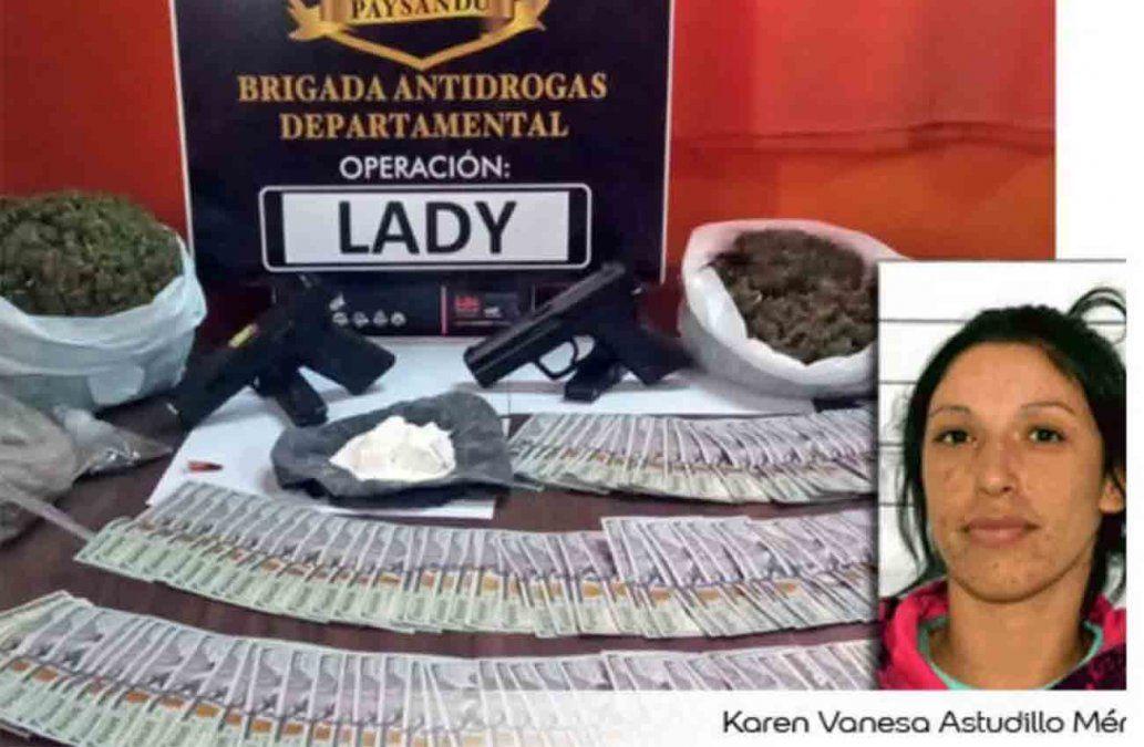 Cinco años de prisión para la mujer que lideraba una banda narco de Paysandú