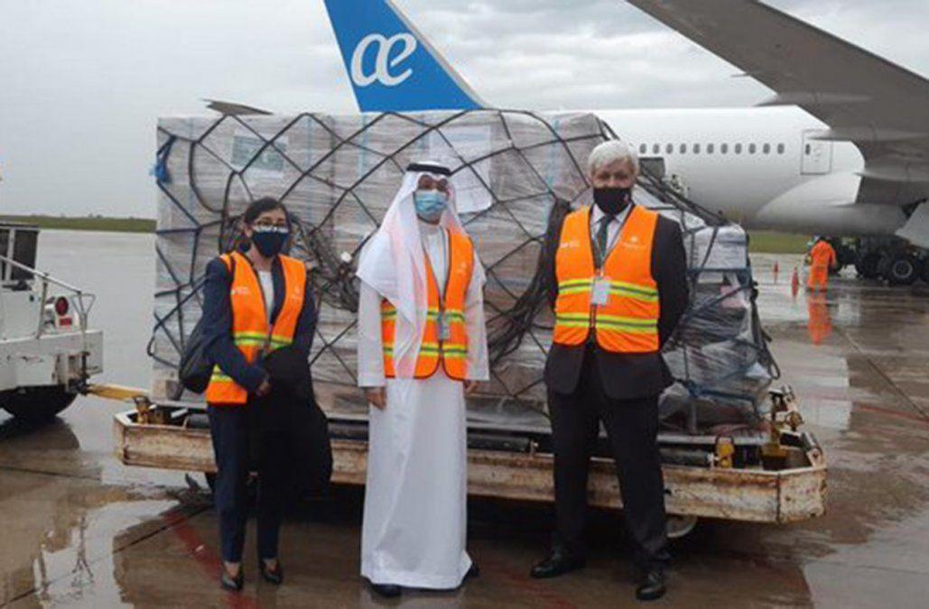 Llegaron los 53 respiradores valuados en 1 millón de dólares donados por Arabia Saudita