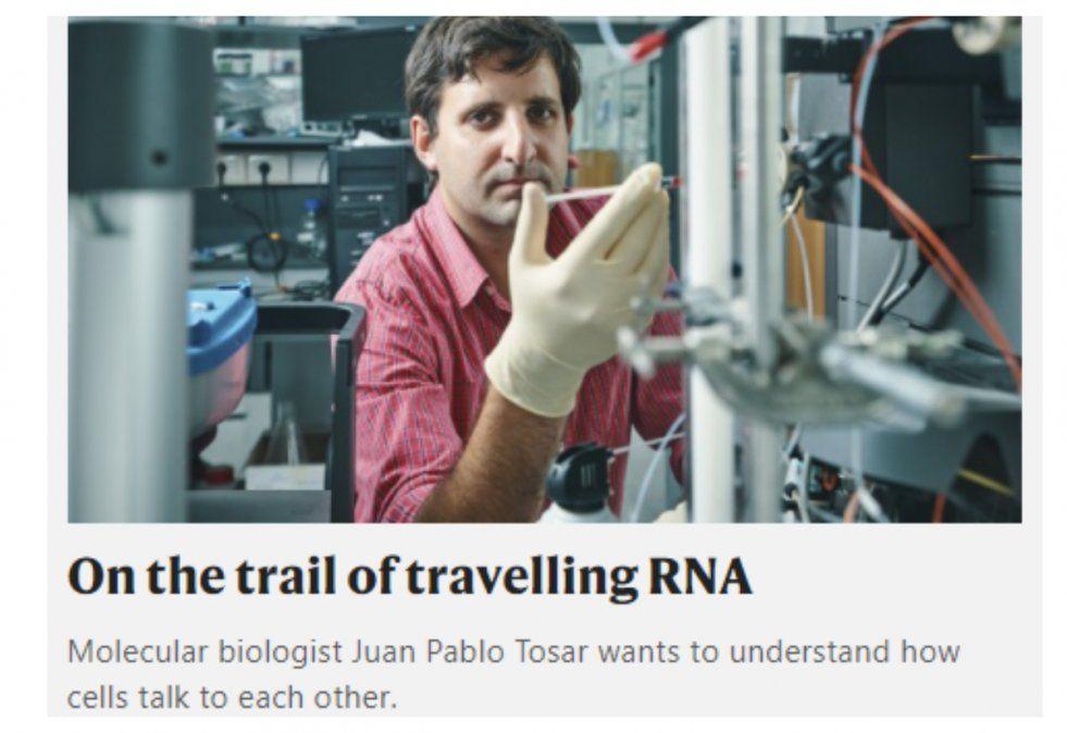 Tosar destacado nuevamente en las páginas de Nature. La foto pertenece a Pablo Alvarenga