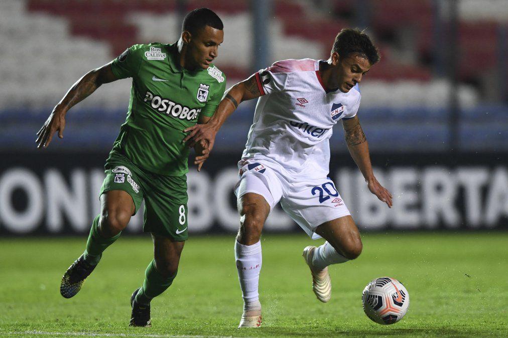 El tricolor empató 4 a 4 con Atlético Nacional por Copa Libertadores