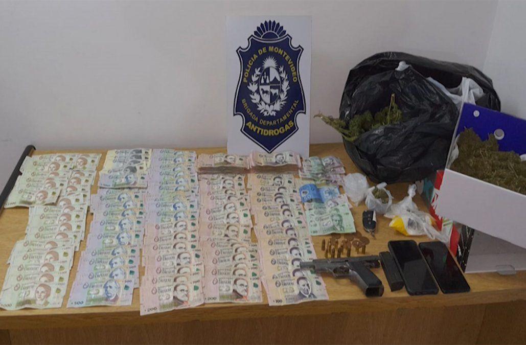 Incautan drogas, dinero y arma en control vehicular en Melilla