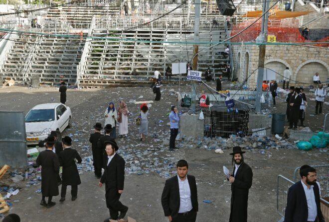 Tragedia en Israel: al menos 44 muertos en una peregrinación judía