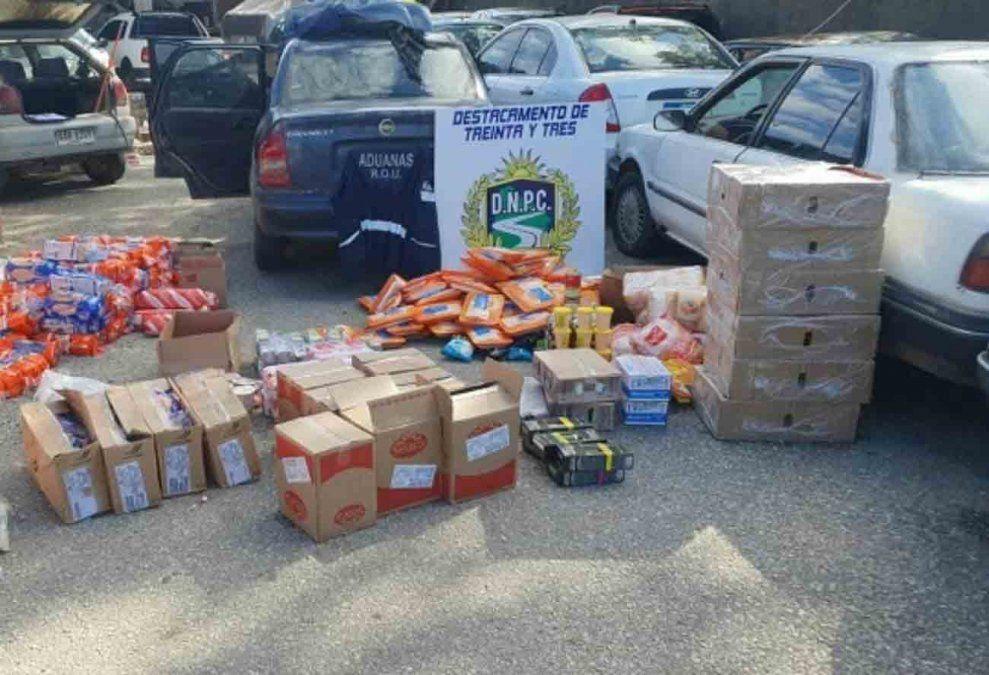 Policía incautó mercadería de contrabando valuada en más 500 mil pesos