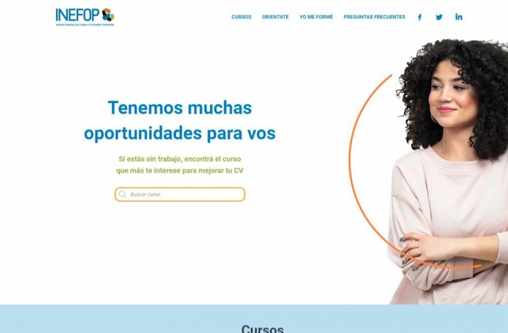 Inefop presentó portal con más de 80 propuestas de capacitación laboral