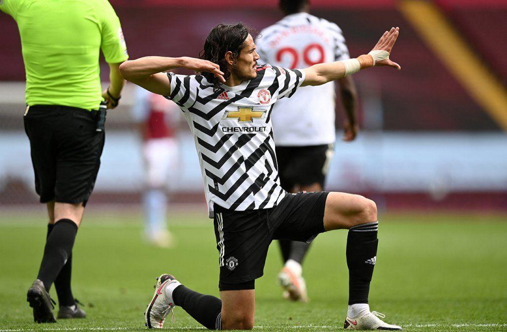 Gol de Cavani para la victoria del Manchester United