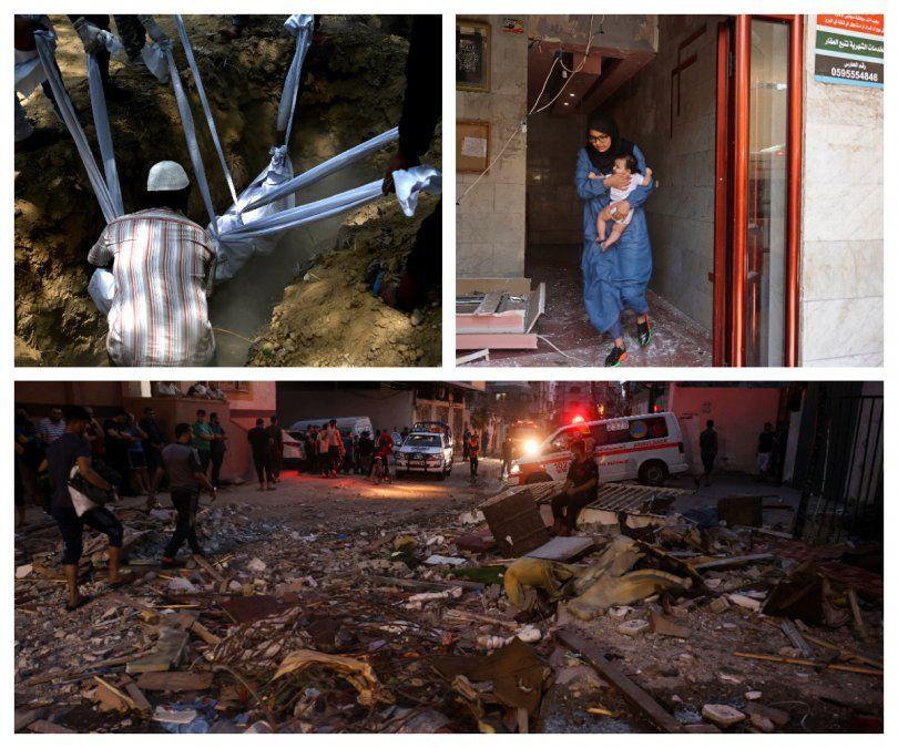Al menos 26 palestinos y 2 israelíes mueren tras noche de bombardeos en Gaza