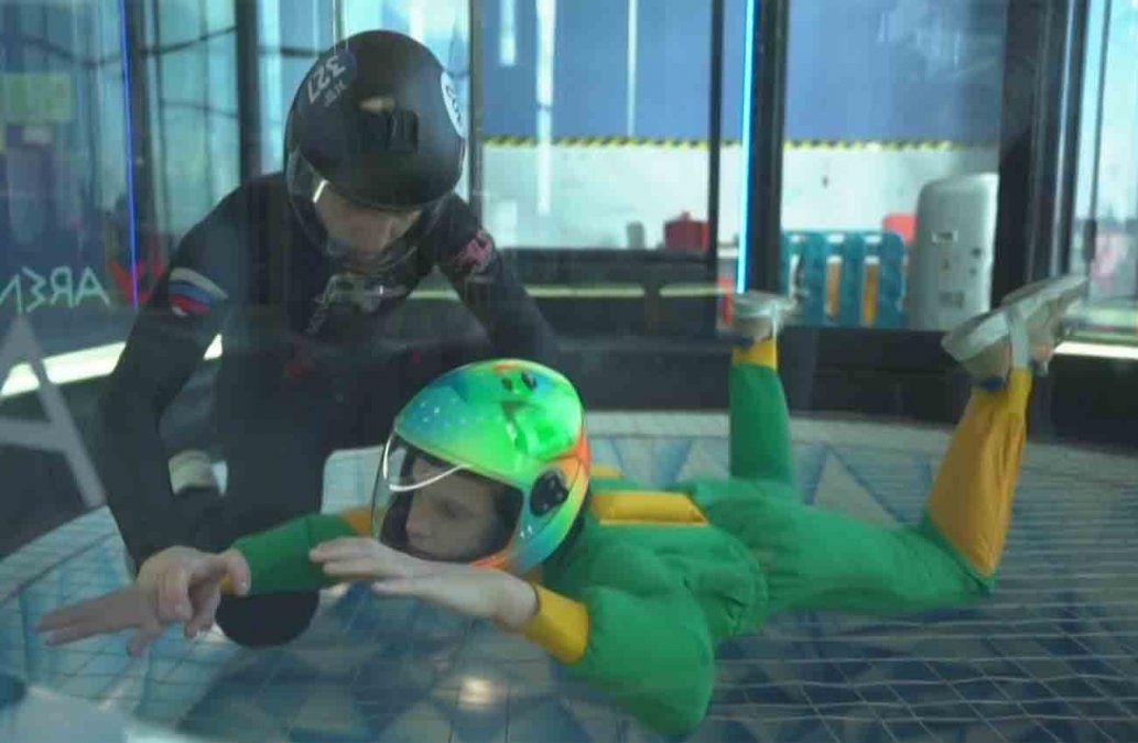 Niños con parálisis cerebral vuelan para mejorar su movimiento