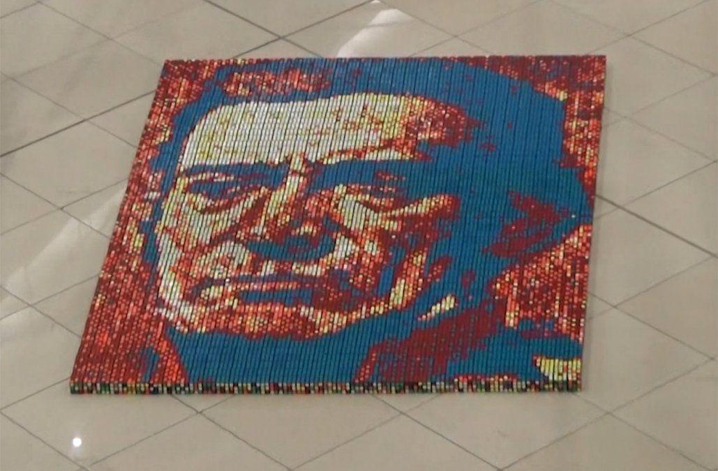 Mural de Artigas con 1.978 cubos de Rubik para conmemorar la Batalla de Las Piedras