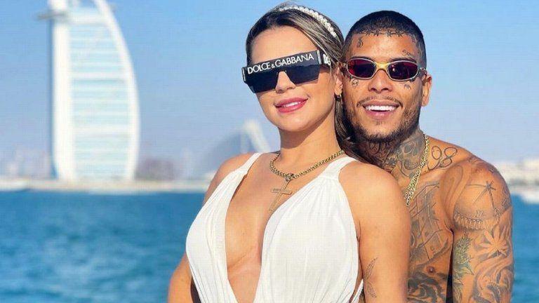 Mc Kevin con su esposa Deolane Bezerra