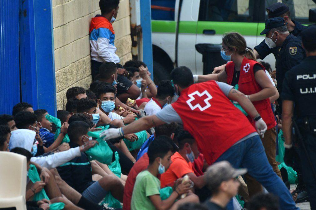 Los niños y adolescentes en el centro de la tormenta por la crisis migratoria en Ceuta