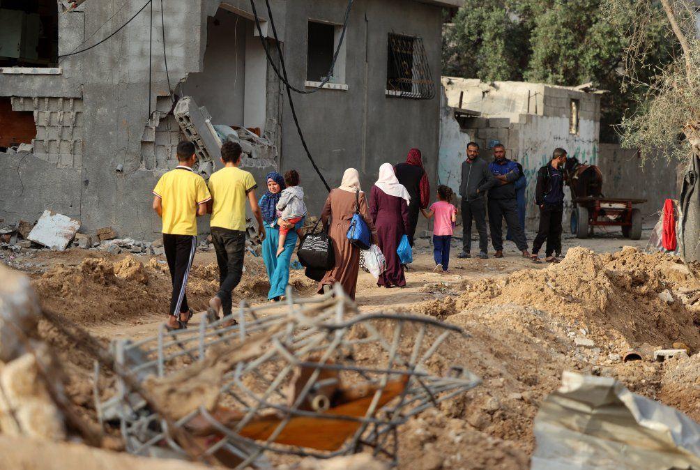 El regreso a los hogares en Gaza después de la tregua