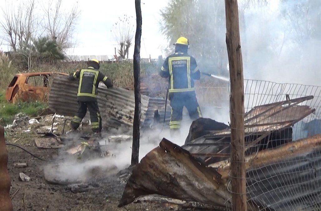 Una pareja y su beba de dos meses perdieron todo en el incendio de su vivienda