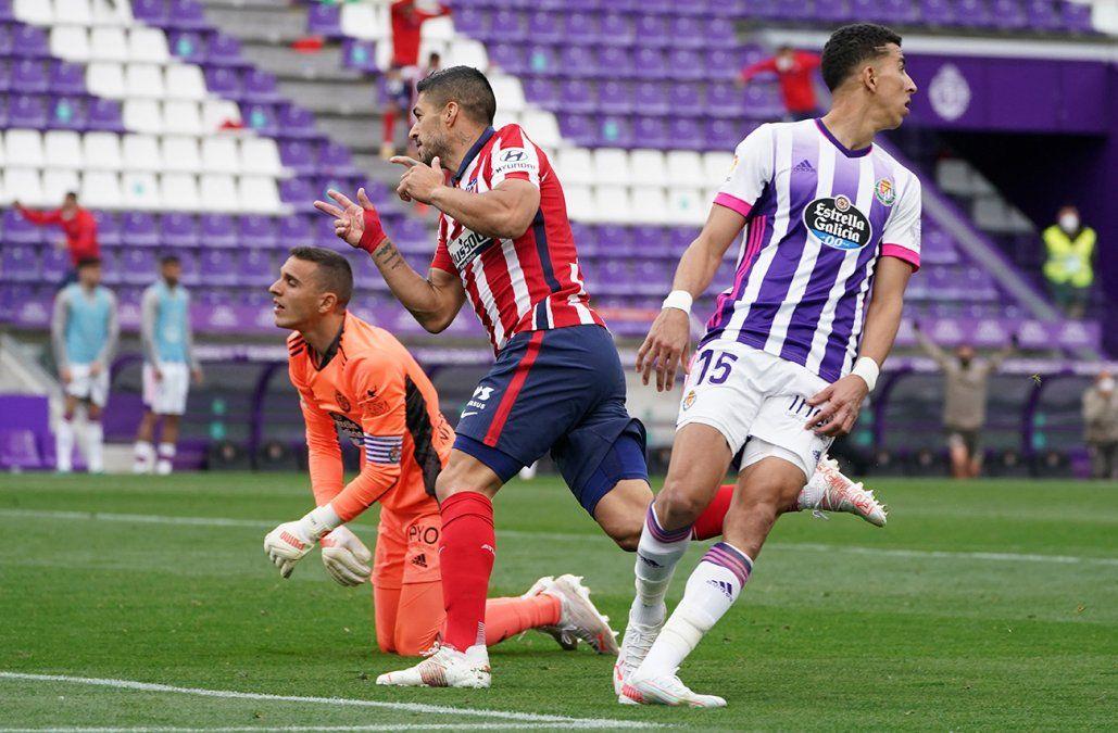 Lo hizo: Luis Suárez le dio el campeonato al Atlético Madrid con el gol del triunfo ante Valladolid