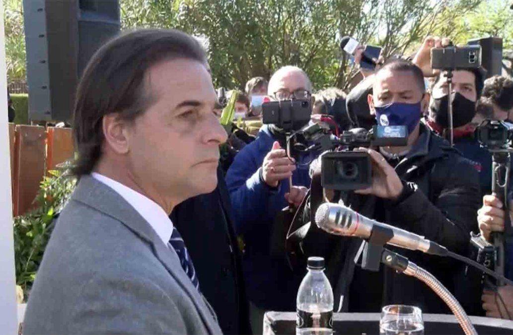 Lacalle Pou en despedida a Larrañaga:Empieza a descansar hoy mucho antes de lo previsto