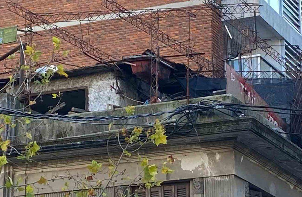 La terraza donde está la bañera usada para quemar el cuerpo