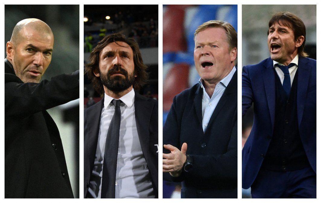 Temporada de DT fusibles: se fueron Pirlo (Juventus), Conte (Inter), Zidane (Madrid) y Koeman está en la mira